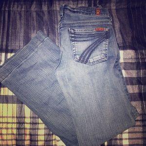 dojo 7 bell bottom jeans
